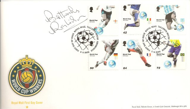 1966 World Cup Winner Ray Wilson signed FDC