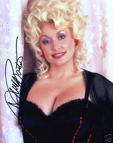 Dolly Parton Country Legend Signed 10x8 Photo