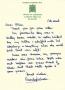 Glenda Jackson MP hand-written letter