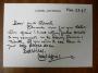 Lionel Jeffries hand-written letter (ALS)