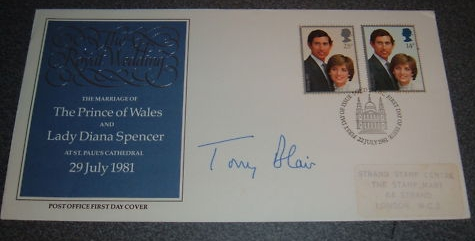Prime Minister Tony Blair signed cover